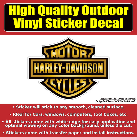 Harley Davidson Motorcycle Vinyl 4 design options Car Window Laptop Bumper Sticker Decal - Colorado Sticker