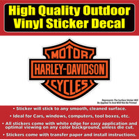 Harley Davidson Motorcycle Vinyl 4 design options Car Window Laptop Bumper Sticker Decal