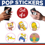 Simpson's Characters Pop Sticker Set of 6
