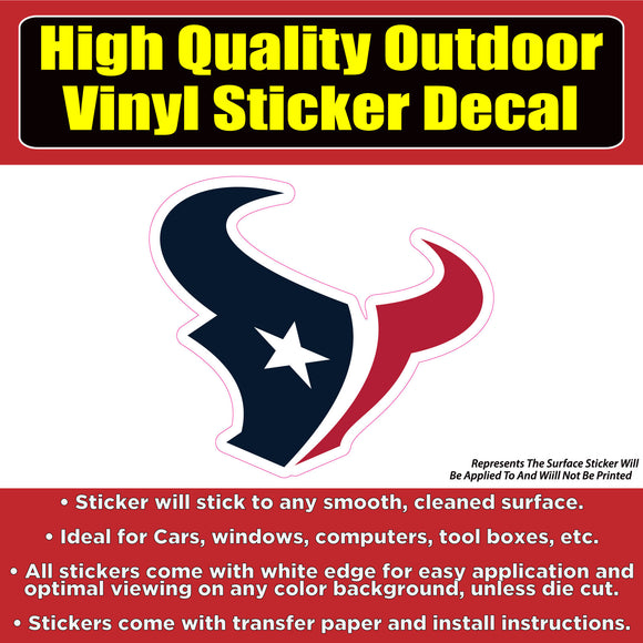 Houston Texans Vinyl Car Window Laptop Bumper Sticker Decal - Colorado Sticker