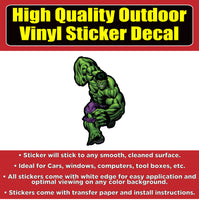 The Hulk Vinyl Car Window Bumper Sticker Decal
