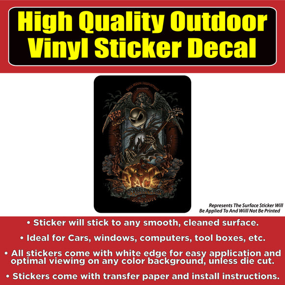 Nightmare Before Christmas Jack Skellington Vinyl Car Window Laptop Bumper Sticker Decal - Colorado Sticker
