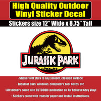 Jurassic Park Movie Jeep Vinyl Car Window Laptop Bumper Sticker Decal - Colorado Sticker