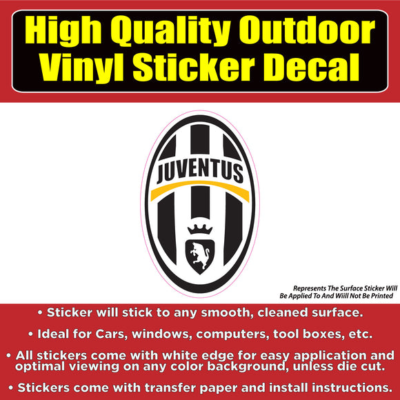 Juventus Soccer Football Vinyl Car Window Laptop Bumper Sticker Decal - Colorado Sticker
