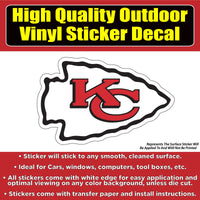 Kansas City Chiefs Football Vinyl Car Window Laptop Bumper Sticker Decal