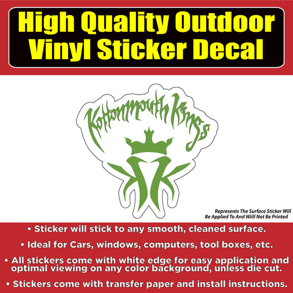 Kottonmouth Kings Music Vinyl Car Window Laptop Bumper Sticker Decal - Colorado Sticker