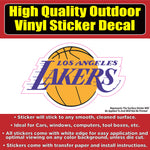 Lakers Basketball Vinyl Car Window Laptop Bumper Sticker Decal