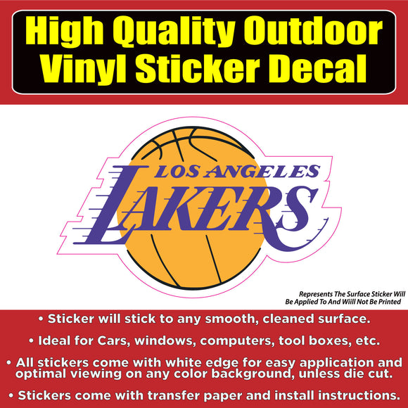 Lakers Basketball Vinyl Car Window Laptop Bumper Sticker Decal - Colorado Sticker