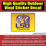 Louisiana State University Tigers LSU Vinyl Car Window Laptop Bumper Sticker Decal