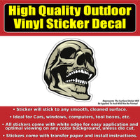 Cool Laughing skull Vinyl Car Window Laptop Bumper Sticker Decal