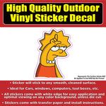 Lisa Simpson Loser Vinyl Car Window Laptop Bumper Sticker Decal
