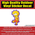 Lisa Simpson Vinyl Car Window Laptop Bumper Sticker Decal