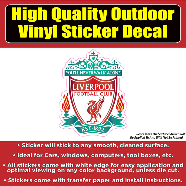 Liverpool Soccer Football Club Vinyl Car Window Laptop Bumper Sticker Decal