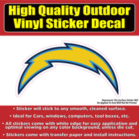 Los Angeles Chargers Vinyl Car Window Laptop Bumper Sticker Decal