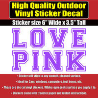 LOVE PINK Victoria Secret Vinyl Car Window Laptop Sticker Decal Many Color Options - Colorado Sticker