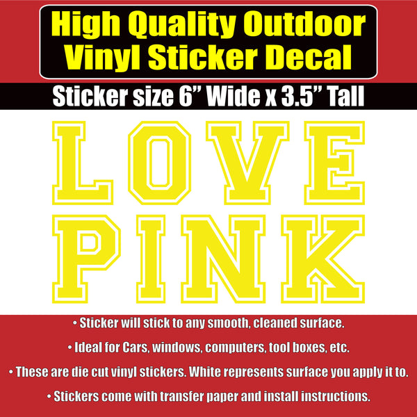 670b4482bc ... LOVE PINK Victoria Secret Vinyl Car Window Laptop Sticker Decal Many  Color Options ...
