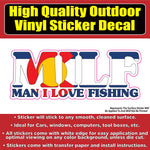MILF Funny Colorado Flag Fishing Vinyl Car Window Laptop Bumper Sticker decal