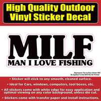 M.I.L.F. Funny Fishing Vinyl Car Vehicle Window Laptop Bumper Sticker decal