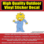 Maggie Simpson Vinyl Car Window Laptop Bumper Sticker Decal