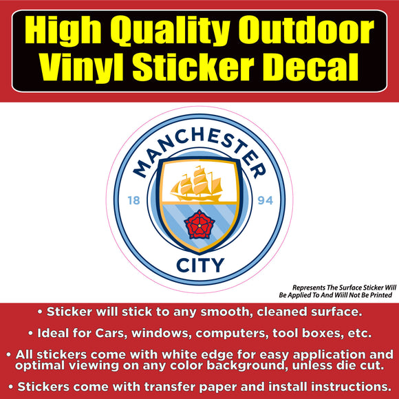Manchester City Soccer Football Vinyl Car Window Laptop Bumper Sticker Decal - Colorado Sticker