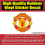 Manchester United Soccer Football Vinyl Car Window Laptop Bumper Sticker Decal