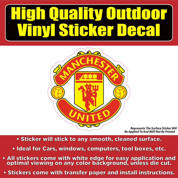 Manchester United Soccer Football Vinyl Car Window Laptop Bumper Sticker Decal - Colorado Sticker