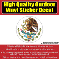 Mexico Flag Symbol Vinyl Car Window Laptop Bumper Sticker decal