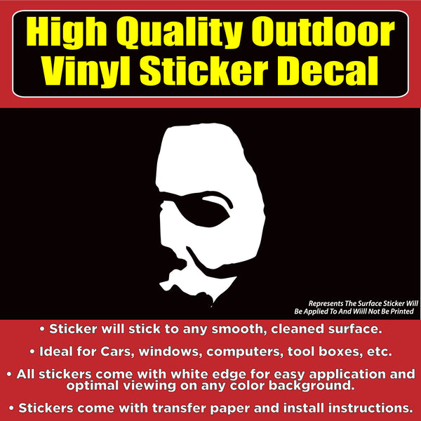 Michael Myers Mask Face Halloween Movie Vinyl Car Window Multi-use Sticker Decal