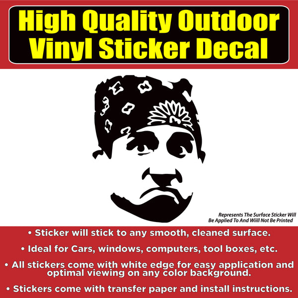 Michael Scott The Office TV Show Vinyl Car Window Laptop Bumper Sticker Decal
