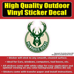 Milwaukee Bucks Basketball Vinyl Car Window Laptop Bumper Sticker Decal