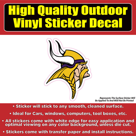 Minnesota Vikings Vinyl Car Window Laptop Bumper Sticker Decal