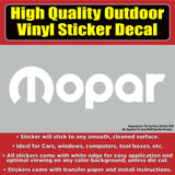 Mopar Automotive Vinyl Car Vehicle Window Decal Sticker