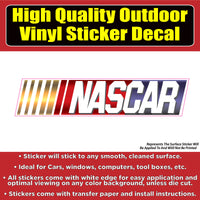 Nascar Racing Vinyl Car Window Laptop Bumper Sticker Decal