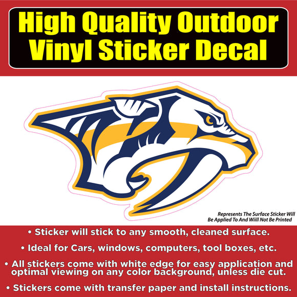 Nashville Predators -NHL Hockey Vinyl Car Window Laptop Bumper Sticker Decal - Colorado Sticker