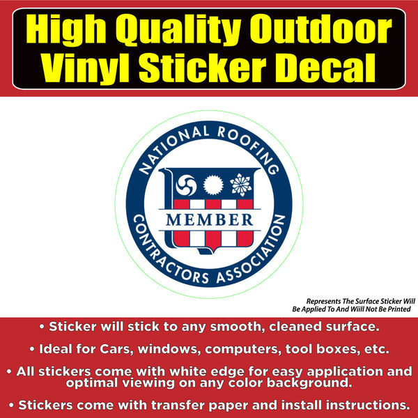 National Roofing Contractor Association Business Sign Banner Vinyl Business Sticker Decal