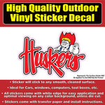 Nebraska Corn huskers Man Football Vinyl Car Window Laptop Bumper Sticker Decal
