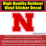 Nebraska Corn Huskers N Football Vinyl Car Window Laptop Bumper Sticker Decal