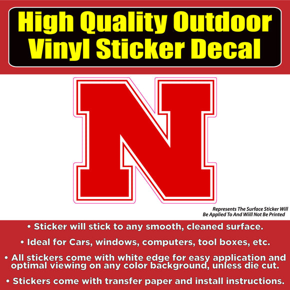 Nebraska Corn huskers Football Vinyl Car Window Laptop Bumper Sticker Decal - Colorado Sticker