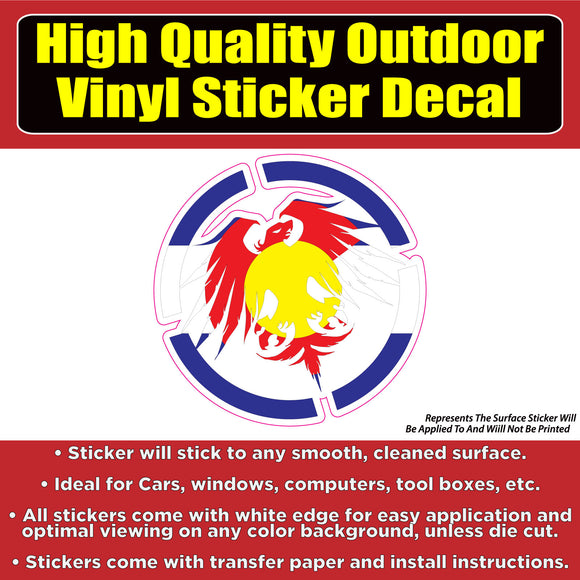 Never Summer Colorado State Flag Vinyl Car Window Laptop Bumper Sticker Decal - Colorado Sticker