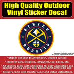 Denver Nuggets Basketball New Logo Vinyl Car Window Laptop Bumper Sticker Decal