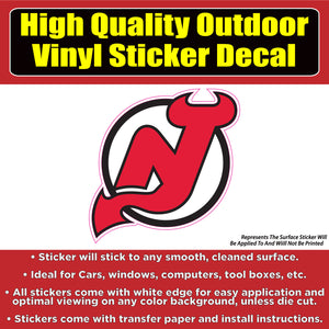 New Jersey Devils -NHL Hockey Vinyl Car Window Laptop Bumper Sticker Decal - Colorado Sticker