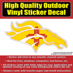 Denver Broncos New Mexico Flag Vinyl Car Window Laptop Bumper Sticker Decal
