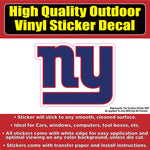 New York Giants Football NY Vinyl Car Window Laptop Bumper Sticker Decal