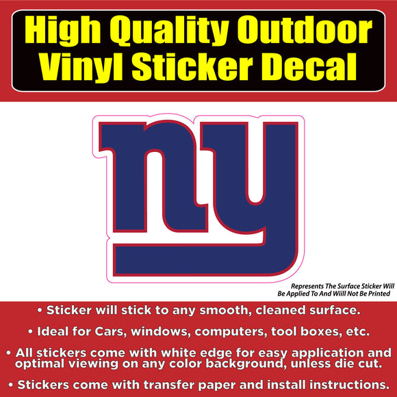New York Giants Football NY Vinyl Car Window Laptop Bumper Sticker Decal - Colorado Sticker