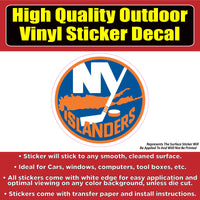 New York Islanders - NHL Hockey Vinyl Car Window Laptop Bumper Sticker Decal
