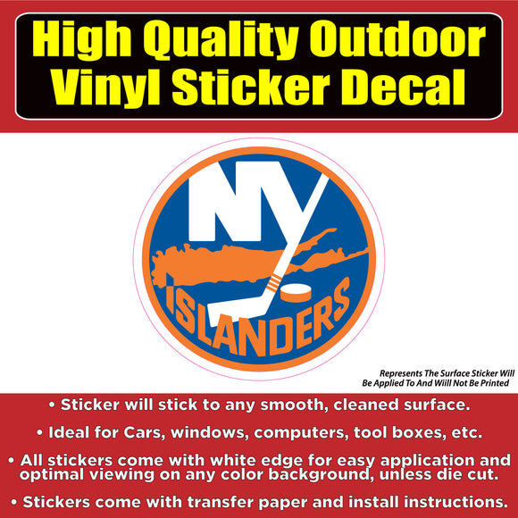 New York Islanders - NHL Hockey Vinyl Car Window Laptop Bumper Sticker Decal - Colorado Sticker