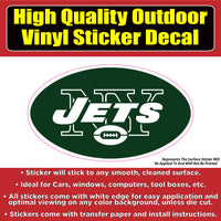 New York Jets Vinyl Car Window Laptop Bumper Sticker Decal