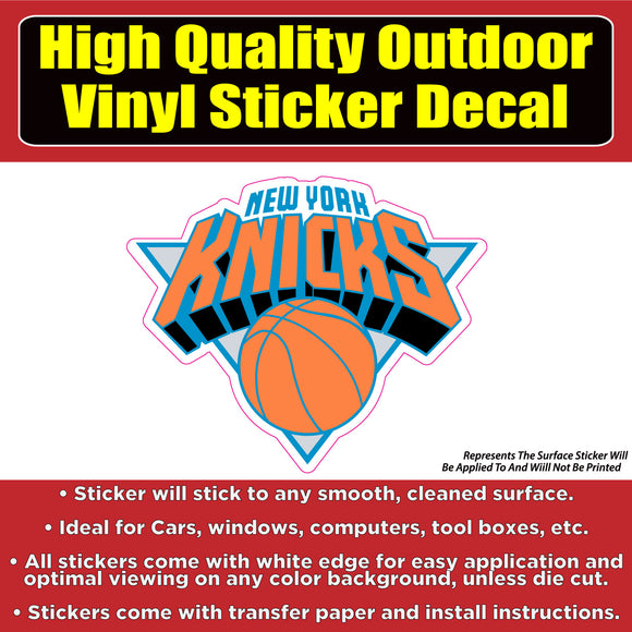 New York Knicks Basketball Vinyl Car Window Laptop Bumper Sticker Decal - Colorado Sticker