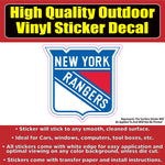 New York Rangers - NHL Hockey Vinyl Car Window Laptop Bumper Sticker Decal
