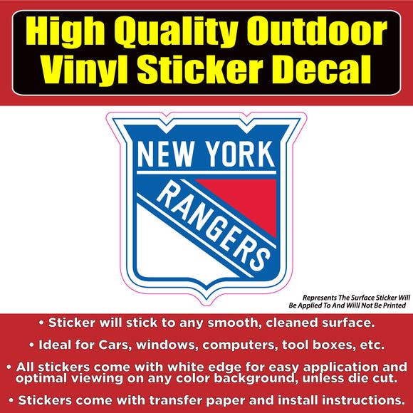 New York Rangers - NHL Hockey Vinyl Car Window Laptop Bumper Sticker Decal - Colorado Sticker